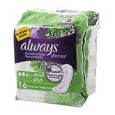 Always Discreet Serviettes Small Plus pour Fuites Urinaires et Incontinence x16 -