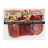 Bastides Salaisons Plateau raclette, bacon fumé jambon et saucisson sec le paquet de 176 g