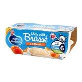 Brassé Mots d'Enfants - 6 mois Abricot - 4x100g