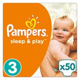 Couches sleep&play Pampers T3 Géant - x50