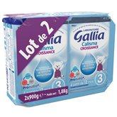 Lait de croissance Gallia 3 Calisma - Poudre 2X 900g Lait de croissance Gallia 3 Calisma - Poudre 2X 900g