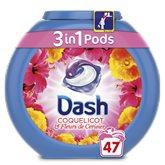 Dash 3 en 1 Pods Coquelicot Lessive en Capsules 47 Lavages -