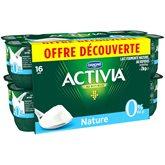 Yaourt 0% nature Activia Danone Bifidus - 16x125g
