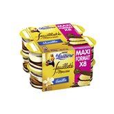 La Laitière Feuilleté de mousse vanille les 8 pots de 57 g