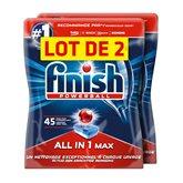 Finish Tablettes lave vaisselle  Powerball tout en 1 - 2x45