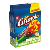 LU Brownie Granola Chocolat noisette - 2x180g