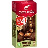 Côte d'Or Tablette de chocolat Côte d'Or Chocolat Noir/Amandes - 4x180g