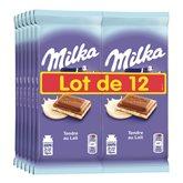Milka Tablette chocolat  Tendre lait - 12x100g