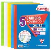 Clairefontaine Koverbook  - 96 p Grands carreaux - 24x32cm - x5