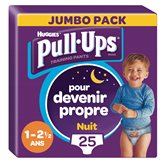 Huggies Culottes Pull-Ups Nuit Huggies Garçon 1-2.5ans 8/17kg - x25