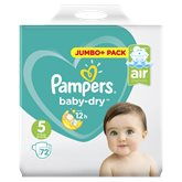 Pampers Couches  Baby Dry T5 : 11/23kg - x72 changes