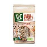 Terres et Céréales Bio Céréales  Mueli aux fruits bio - 1kg