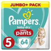 Pampers Couches Baby Dry  Nappy Pants - T5 - x64 changes