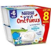 Nestlé P'tit Onctueux Nestlé Nature - 8x100g