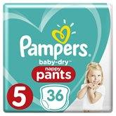 Pampers Culottes  Baby Dry Pants T5 : 11/18kg - x36 changes