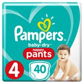 Pampers Culottes Pampers Baby Dry Pants T4 : 8/14kg - x40 changes