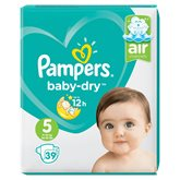 Pampers Couches  - Baby Dry T5 : 11/16kg - x39 changes