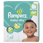 Pampers Couches  Baby Dry T5+ : 13/25kg - x35 changes