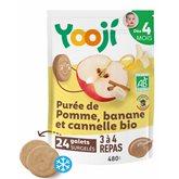 Yooji Purée pomme bio  Banane canelle - 4 mois - 480g