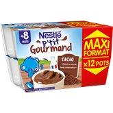 Nestlé Dessert P'tit gourmand  Chocolat 8 mois - 12x100g