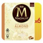 Magnum Glaces Magnum Blanc amande x6 - 438g