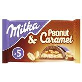 Milka Barre chocolat caramel Milka x5 - 185g