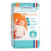Carryboo Couches écologiques Carryboo Dermo sensitives T2 3/6kg - x56