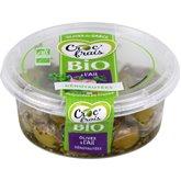 Croc' frais Olives vertes denoyautés A l'ail bio - 120g