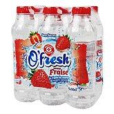 Boisson eau de source O'fresh Arôme fraise - 6x50cl